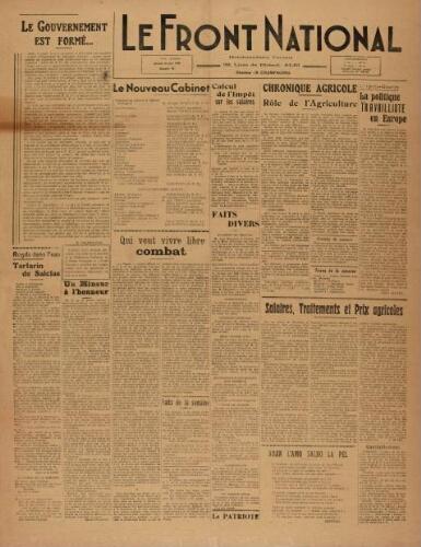 F.N. : hebdomadaire du Front national du Tarn, n°95, 29 juin 1946