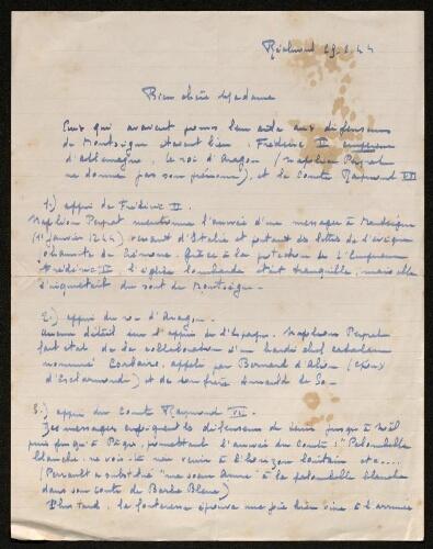 Lettre de Marguerite de Bévotte à Louisa Paulin, le 29 février 1944