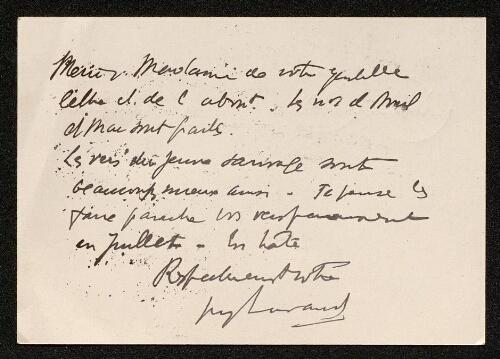 Lettre de Guy Lavaud (pour la revue Yggdrasill), le 23 juin 1939