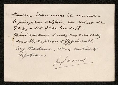 Lettre de Guy Lavaud (pour la revue Yggdrasill), le 22 janvier 1939