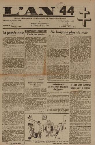 An 44 : organe départemental du mouvement de libération nationale (L'), n°8, 24 décembre 1944