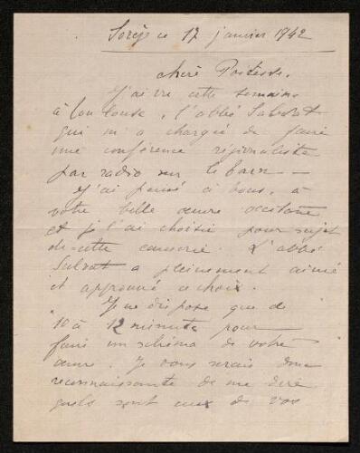 Lettre de Géraldine à Louisa Paulin, le 17 janvier 1942